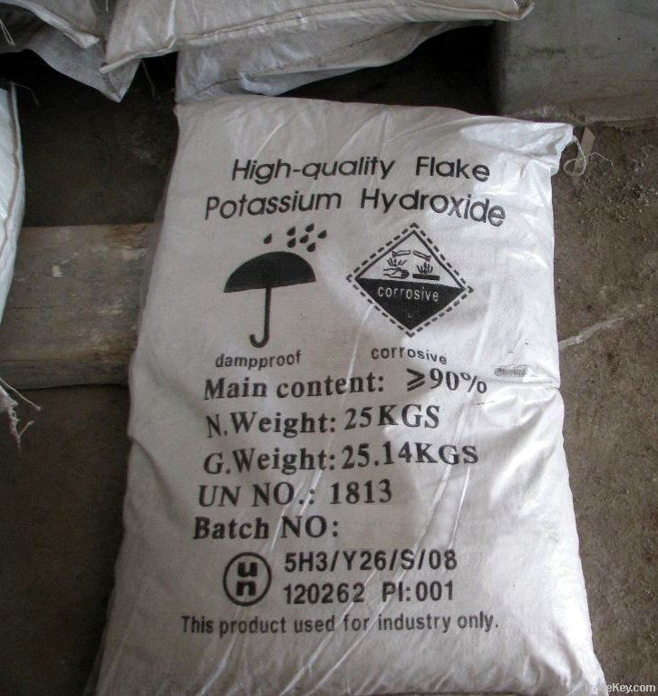 Potassium hydroxide Flakes industrial grade KOH 90%95%99%