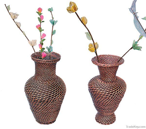 Wicker Flower Vases