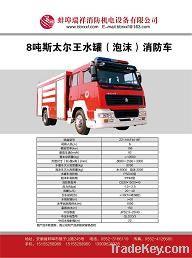 8 tons Steyr Wang tank foam fire engine