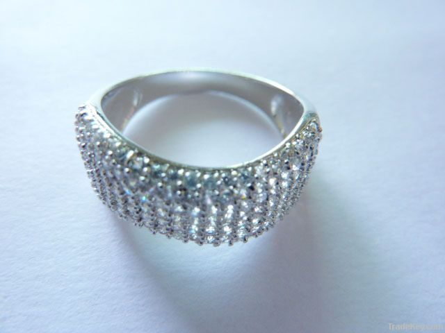 Silver Wax-set Ring