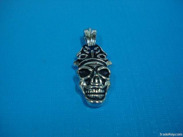 Silver Skull Pandent
