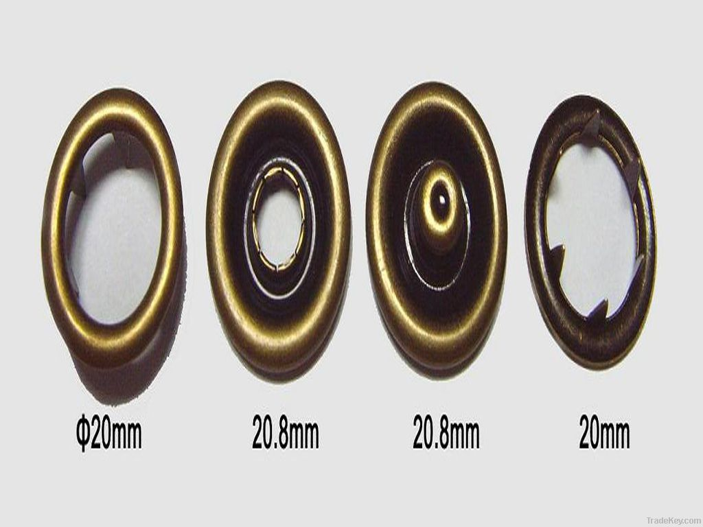 OEKO metal brass prong snap fastener button