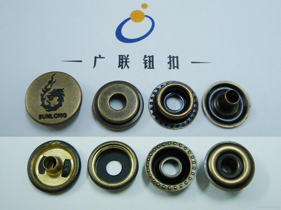 OEKO metal brass snap fastener button