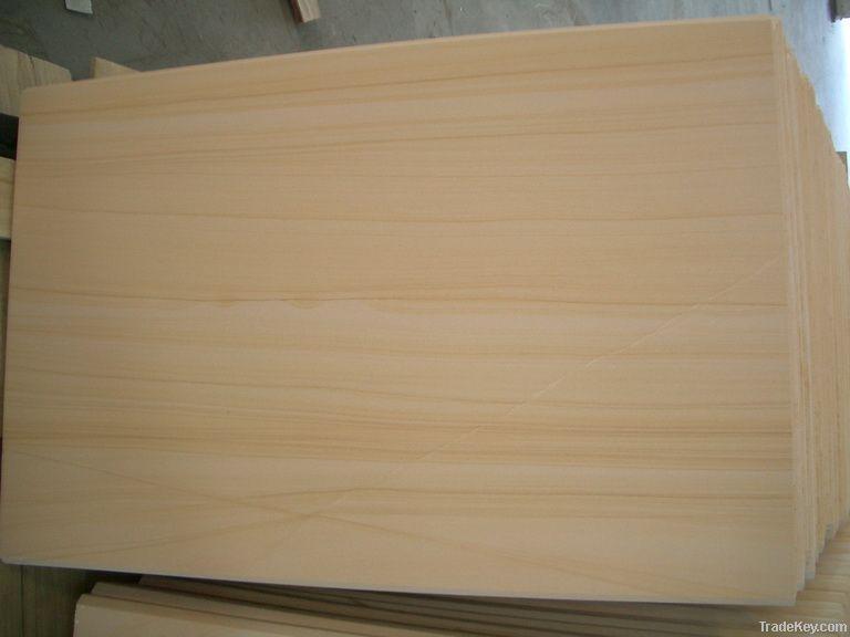Selling beautiful yellow vien wooden sandstone slab