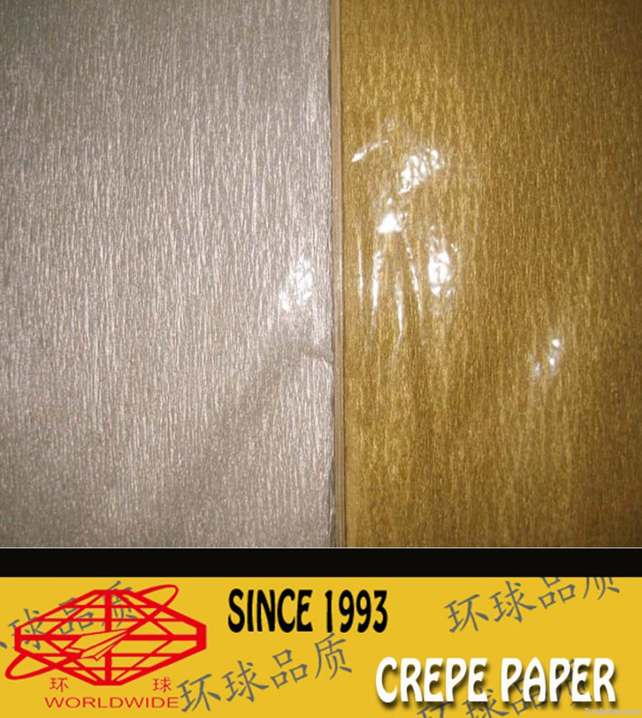 Gold and silver crepe paper