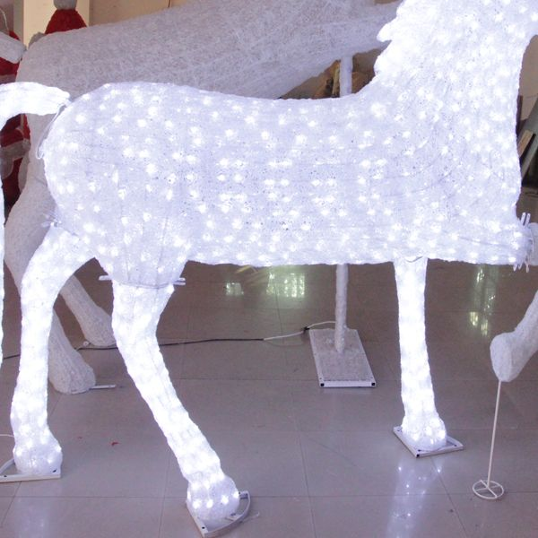 Decoration outdoor galloping horse light for christmas