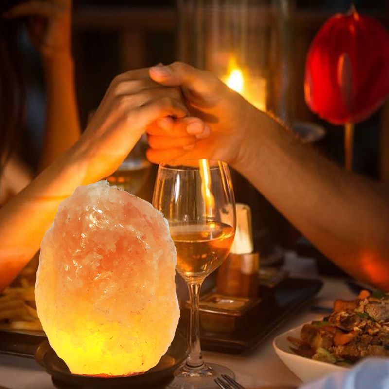 Himalayan Lined Square Crystal Salt Lamps Special Design Salt Lamps