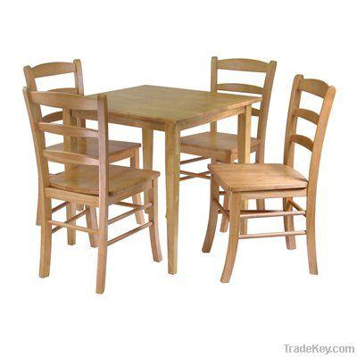 Pine Wood Dining Table Set