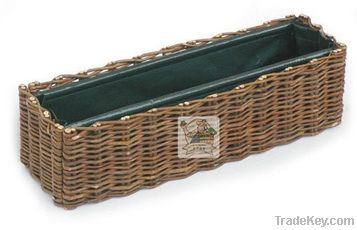 Willow and PE Woven Planter