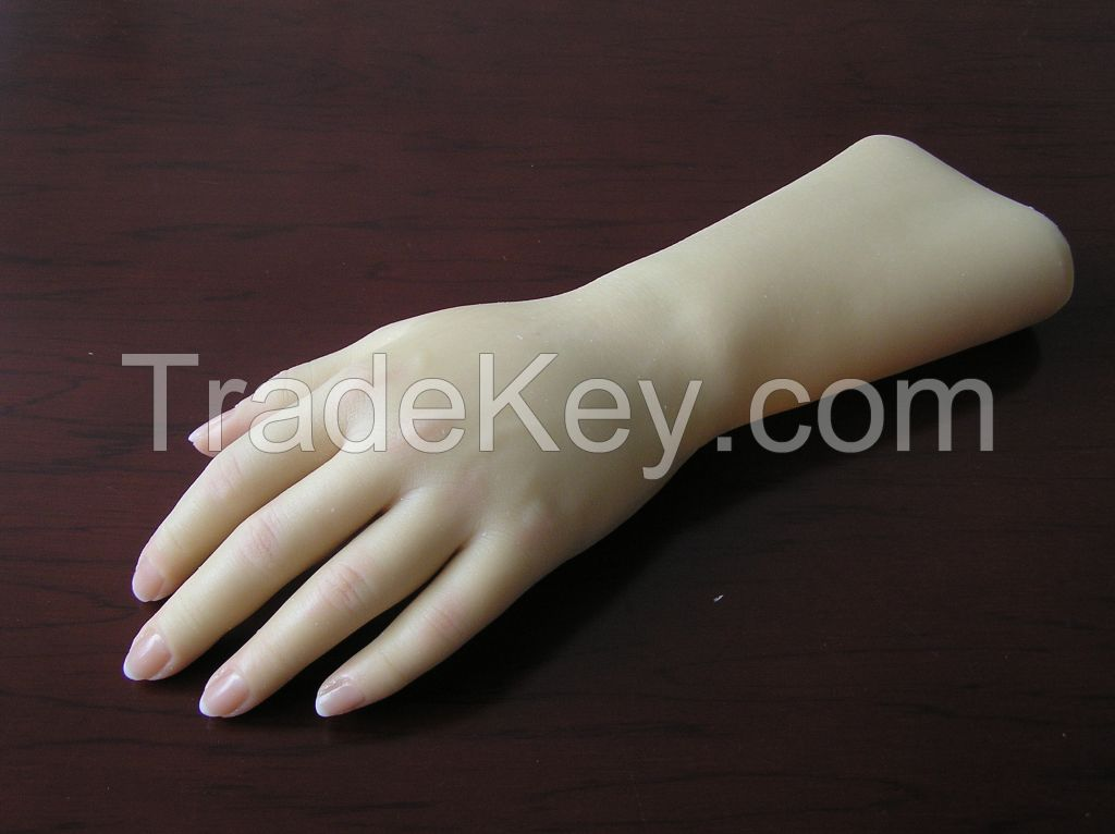 silicone glove for cosmetic hand