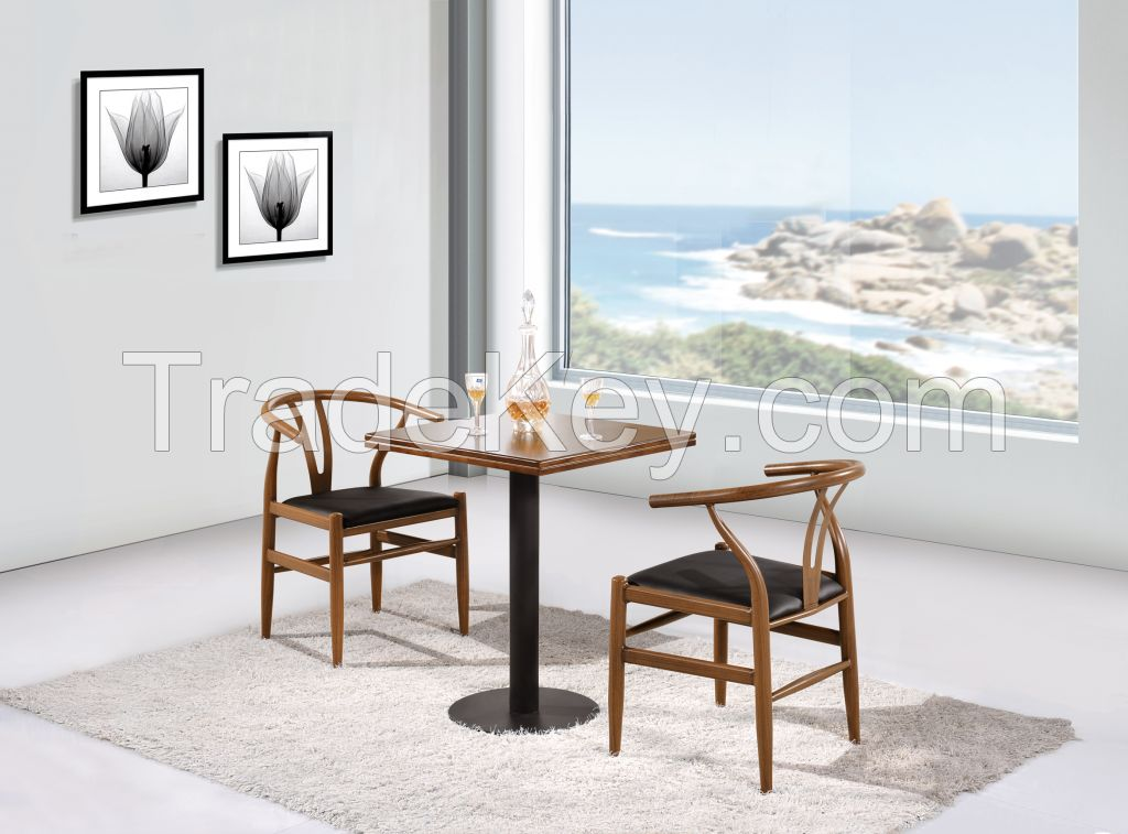Dining chair wood / Y wood chair / Wishbone stools