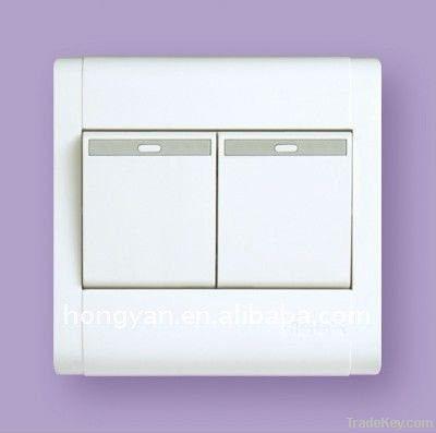 10A 2 gang push button wall switch (BS standard)