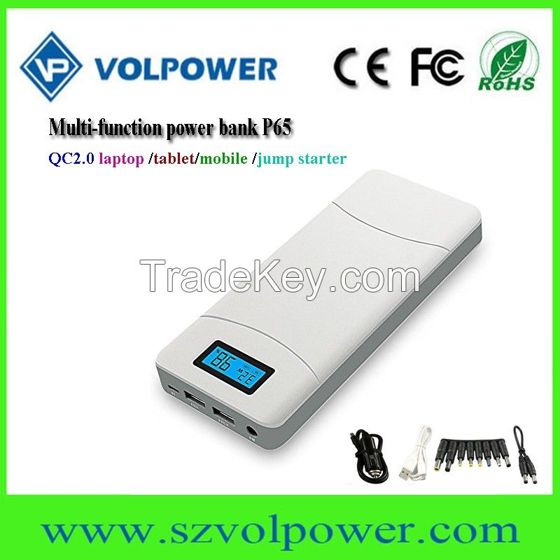 Popular good price 15600mah multi function power bank battery chargers for mobile phones