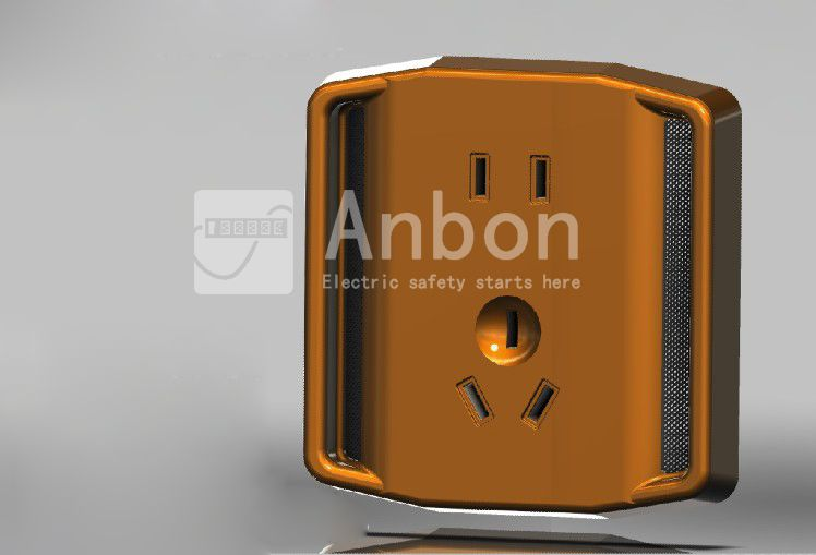 Patent Designed Water Resistant Heatproof Wall Outlet/Socket