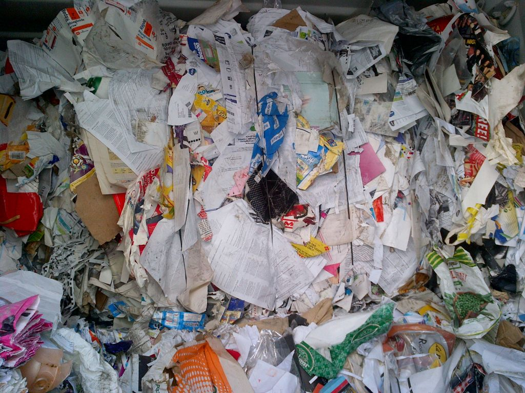 Mix Paper Scrap in Bales