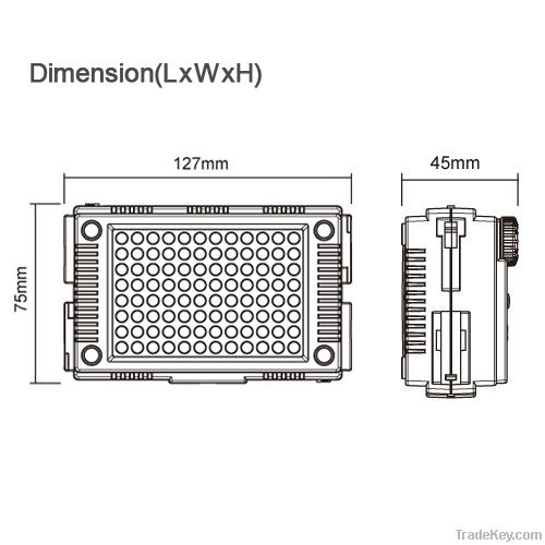 HDV-Z96 on camera Dimmable led video light for DSLR Camera/Camcorder