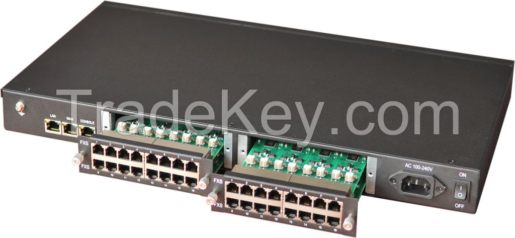 Asterisk/Elastix SIP/H.248/MGCP 1 to 96 Ports VoIP Gateway IAD ATA