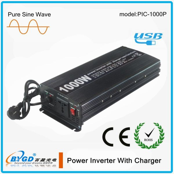 Pure Sine Wave Solar Inverter with Charger 1kw 12vDC to 220vAC Inverter