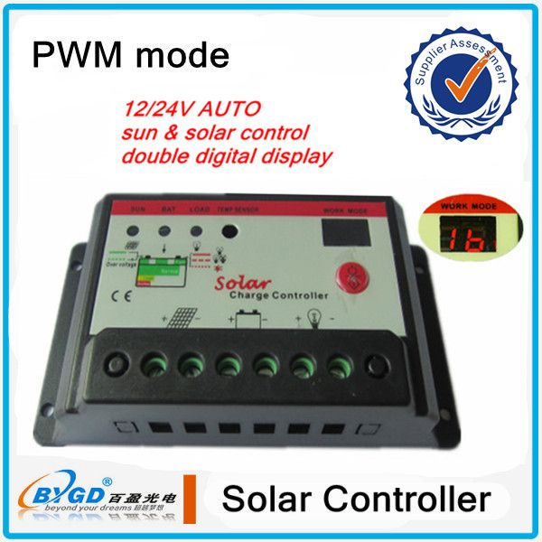 PWM solar charge controller,intelligent solar panel power controller 20A 12V/24V