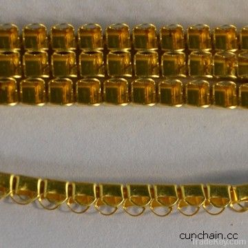 Close cup chain , D style cup chain, brass chain