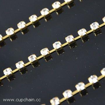Rhinestone cup chain, crystal cup chain, fusenby