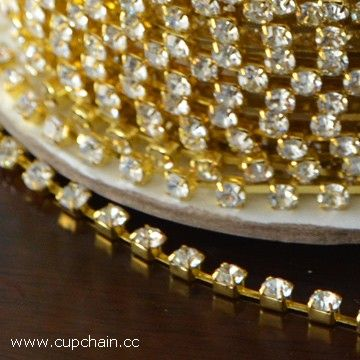 Rhinestone cup chain, strass cup chain, crystal cup chain, fusenby