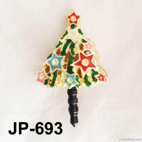 Christmas Dust Plug Fashion Jack Plug ear cap earphone jack pin