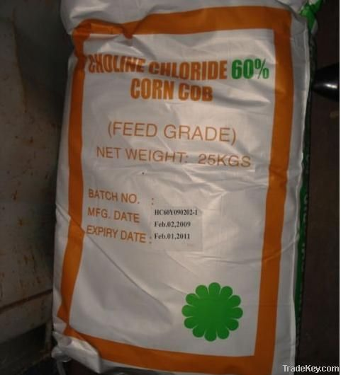 Choline Chloride 60% (Corn Cob carrier) Feed Grade