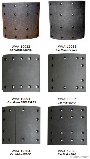 Semi-metallic Brake Linings
