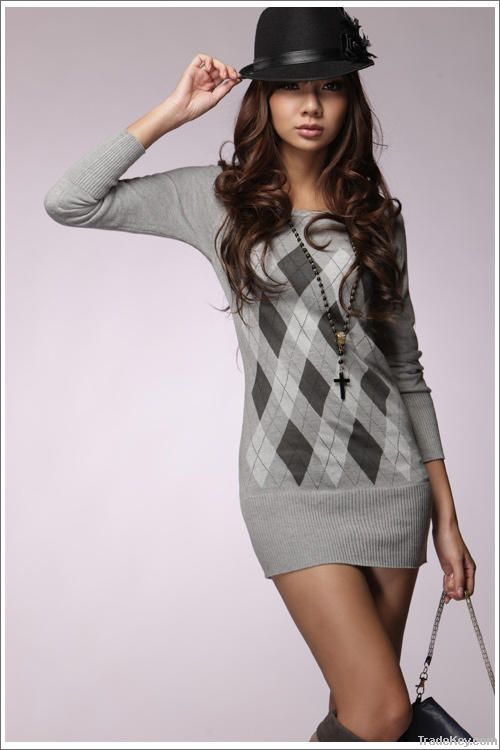 Grey Cotton Fashion Fitted Tunic