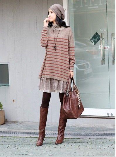 Fashion Stripe Leisure Sweater