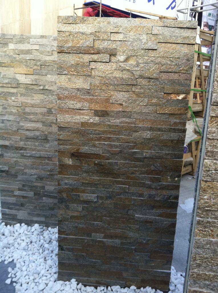 Rusty Quartz Culture Stone Wall