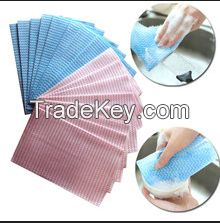 Spunlace nonwoven fabric cleaning cloths