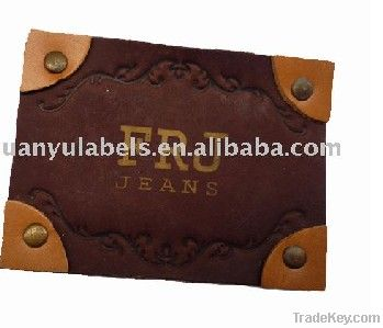 2011 jeans leather patch labels