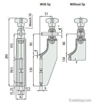 guide rail bracket JP543 (conveyor system parts)