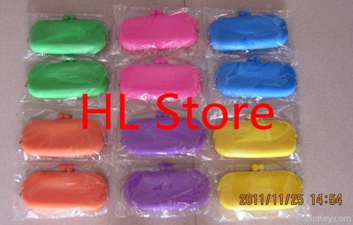Free shipping + Mix color! Silicone Wallet, Silicone Purse, Coin Pouch