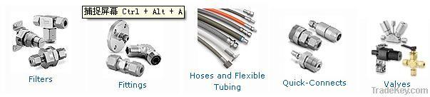 TUBE FITTINGS , VALVES, hoses and flexible tubing