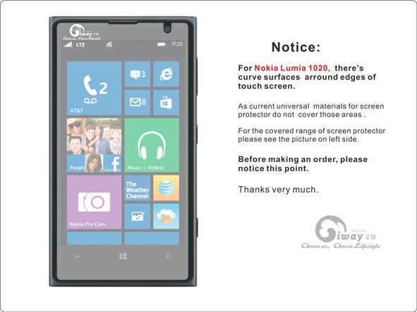 High Quality Anti -Glare Screen Protector for Nokia Lumia 1020