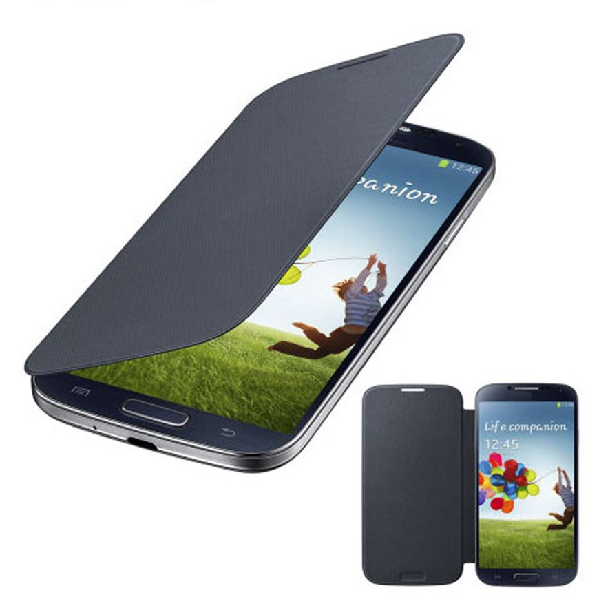 Super-Thin High Quality PU Flip Cover For Samsung Galaxy S4