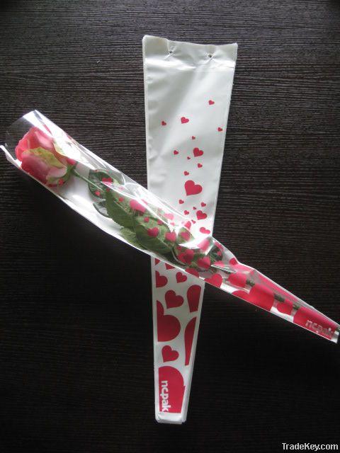 BOPP flower sleeves for single rose