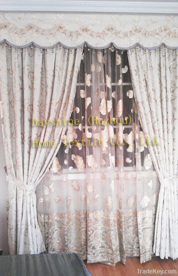 Jacquard window curtian