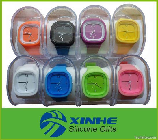 2015 High Quality Custom Logo Silicone Jelly Watch