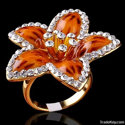 2012 new style fashion jewelry crystal rings