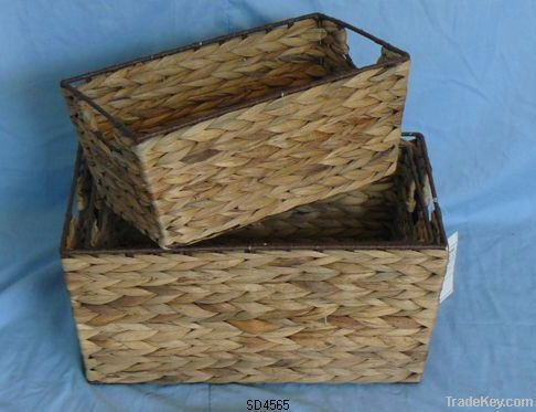 pvc, willow, paper string  baskets
