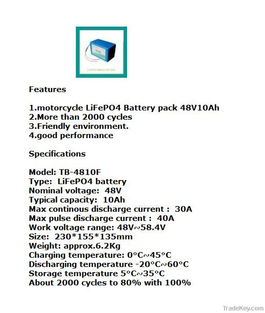 Lithium battery for Escooter