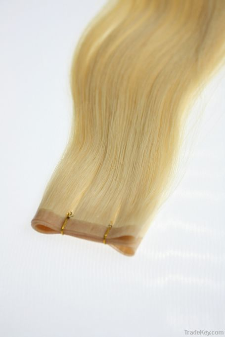 100% remy skin weft hair produces