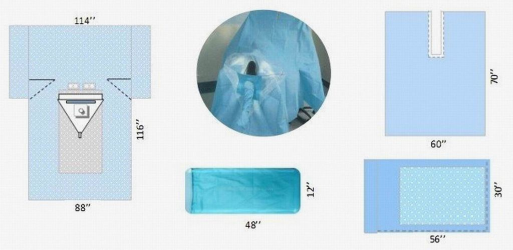 Disposable surgical arthroscopy knee pack sterile KD-44481