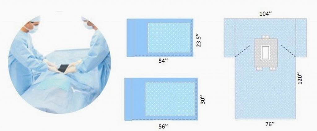 Disposable surgical laparotomy pack sterile KD-44231
