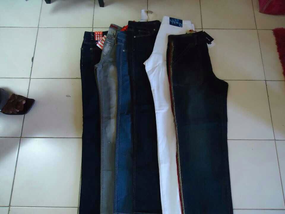 Denim,jeans , cargo pants, dress pants, t shirts, undergarments, jackets