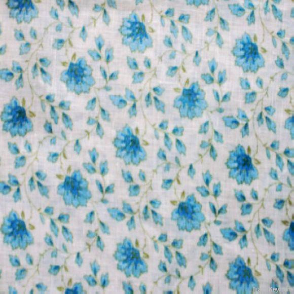 100%linen prints Fabric